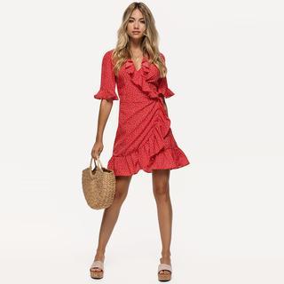 rode polkadot jurk