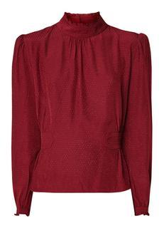 Dandy blousetop met ingeweven dessin