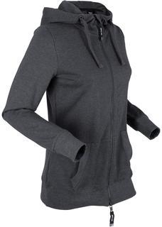 Dames sweatvest lange mouw in zwart