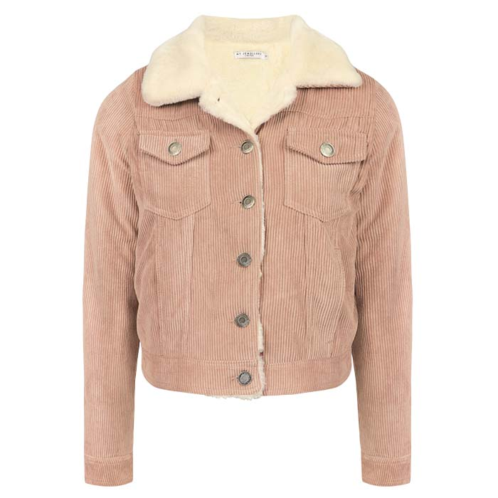 Faux My Corduroy Fur Pink Jewellery Jacket TJclFK1