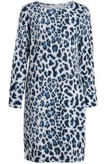 jurk met gekleurde panterprint