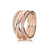 PANDORA Rosé goud ineengevlochten ring