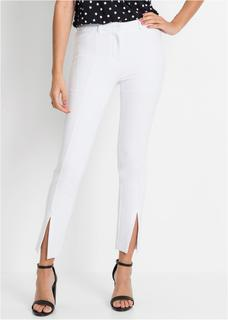 Dames jersey broek in wit