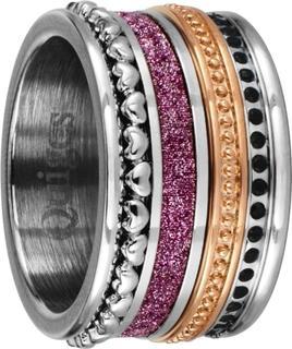 Stapelring Ring Set - Dames - RVS Multi - Maat 18 - Hoogte 10mm - SRS00118