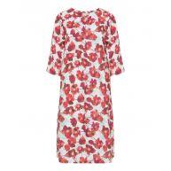 Floral linen summer dress