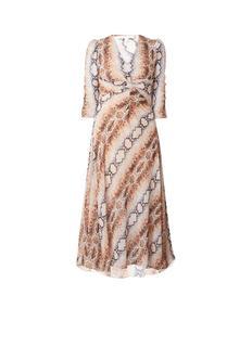 Repena maxi-jurk met slangenprint