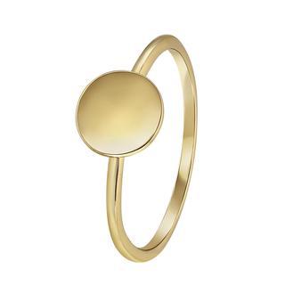Zilveren ring goldplated disc