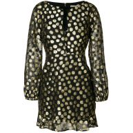 For Love And Lemons metallic polka dot dress - Black