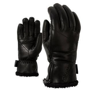 Leer +primaloft Dames Vinger Handschoenen Zwart