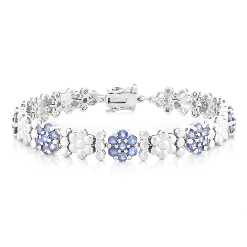 Juwelo Zilveren armband met Kanchanaburi saffieren Met Paypal Goedkope Prijs Klaring Goedkope Prijs Winkel Goedkoop Online Goedkope Koop Exclusieve yqM1K6I