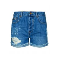 Superdry FREYA Jeansshort ripped mid wash