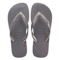 Havaianas Slippers Flipflops Top Metallic Grijs