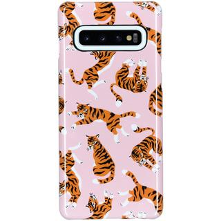 Passion Backcover voor Samsung Galaxy S10 - Roze Tijger