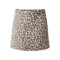 Levi's Polina rok van katoen met luipaarddessin