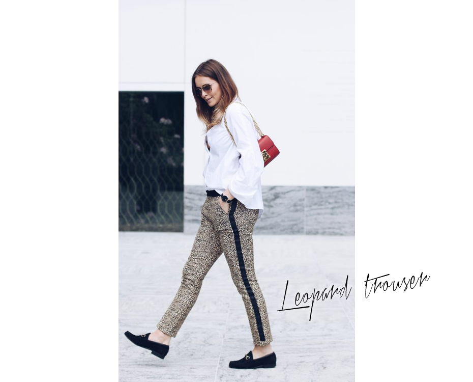 Leopard trouser