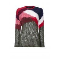 Diesel M-Ronson grofgebreide trui met kleurcontrast