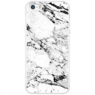 iPhone 5/5S/SE hoesje - Marmer grijs