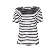 T by Alexander Wang Loose fit T-shirt met streepdessin