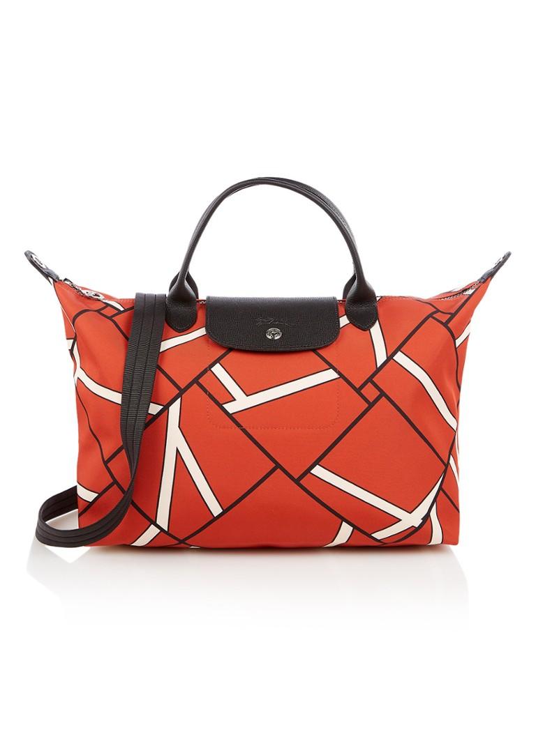 Longchamp Handbag Geo Neo S Flessione Mette Dettagli Leren BjKx0d7Wc