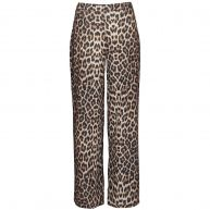 FLARED LEOPARD PANTS-M