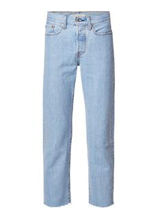 Wedgie high rise straight fit cropped jeans
