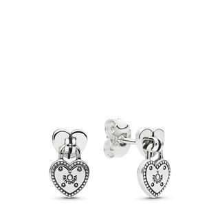 Liefdesslot oorbellen, Oorbellen uit Sterling zilver, 296575