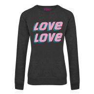 Love Sweater - Grey/Pink