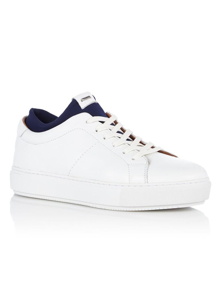 In Pelle Sneaker Con La Distribuzione Di Tessuti