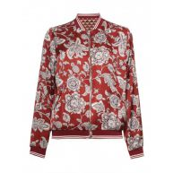 Maison Scotch 143660 17 reversible printed bomber jacket with sporty ribs combo a rood
