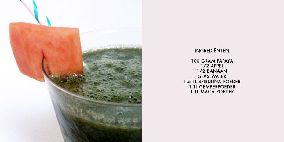 Papaya detox smoothie