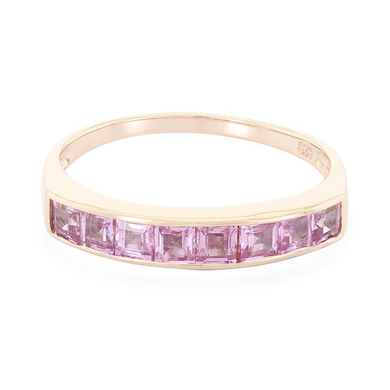 Juwelo Gouden ring met Ceylon roze saffieren goedkoop Euo63