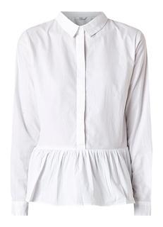 Eneyre blouse van katoen met volantzoom