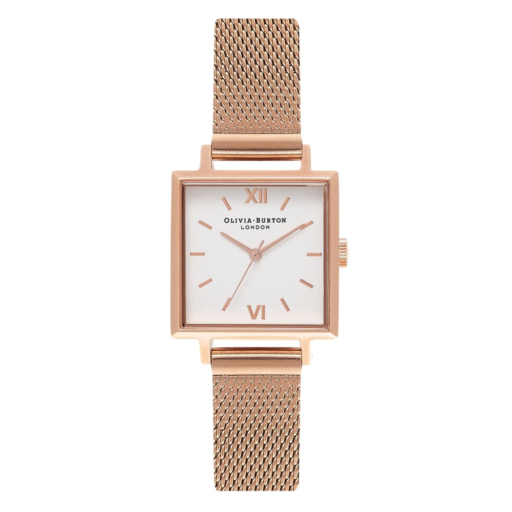 Olivia Burton Vierkant horloge van , rose goud