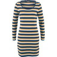 Dames shirtjurk lange mouw in blauw - bpc bonprix collection
