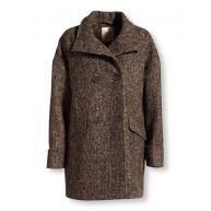 BON'A PARTE Wollen jas zwart/beige