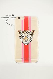 Leopard Iphone Case - Red/Green