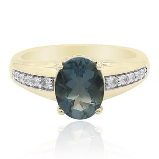 Gouden ring met een blauwe vuur opaal