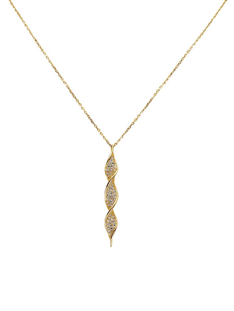 Goedkope Koop Sast Goedkope Ebay Diemer Gold Ketting met hanger met zirkonia wit Krijgen Authentieke goedkoopste 63HYDiF