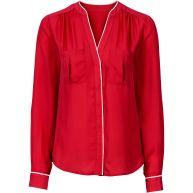 Dames blouse in rood - BODYFLIRT