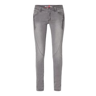 Slim fit jeans met ritsdetails