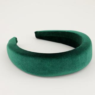 Groene brede haarband