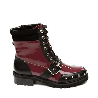 Ingy Biker boots WINE/BLACK dames