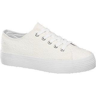 Witte sneaker plateauzool