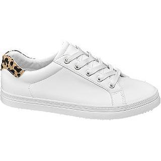 Witte sneaker panterprint