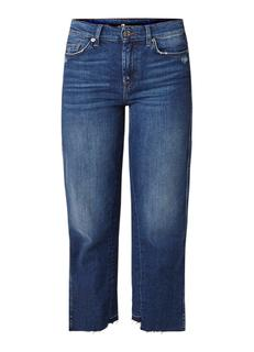 Kiki Lounge cropped high rise straight fit jeans