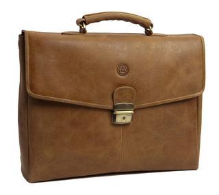 Frederiksborg Briefcase Tan 14 inch