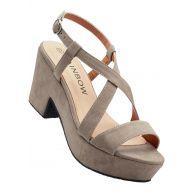 Dames sandaaltjes in bruin - RAINBOW