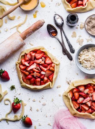 slagroomtaart, aardbeien, recept