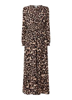 Agnette maxi-jurk met luipaarddessin