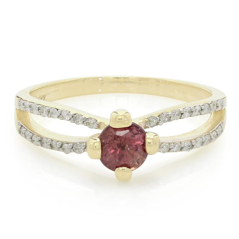 Op Hete Verkoop Juwelo Gouden ring met een Onverhitte Padparadscha Saffier (Molloy) Goedkope Verkoop Pick Een Best FktCIf